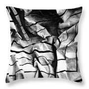 Folding Structure I Throw Pillow