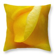 Folds Of A Rose - Digital Painting Effect Throw Pillow