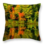 Foliage In New Hampshire Throw Pillow