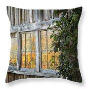 Foliage Reflections Throw Pillow