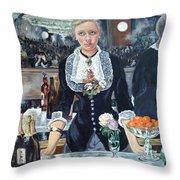 Folies Bergere Revisited Throw Pillow