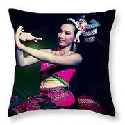Folk Dance Throw Pillow