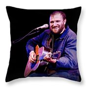 Folk Musician David Bazan In Concert Throw Pillow