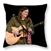 Folk Musician Denise Franke Throw Pillow