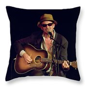 Folk Singer Greg Brown Throw Pillow