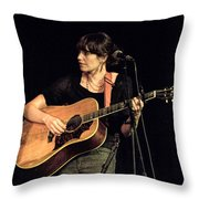 Folk Singer Pieta Brown Throw Pillow