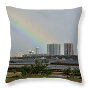 Follow That Rainbow Throw Pillow