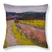 Follow The Daisies Throw Pillow