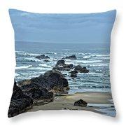Follow The Ocean Waves Throw Pillow