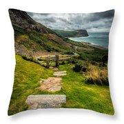 Follow The Path Throw Pillow by Adrian Evans