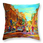 Follow The Yellow Brick Road Throw Pillow