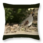Following In Daddy's Footsteps  Throw Pillow