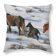 Following Mom  Throw Pillow by Jeanne  Bencich-Nations