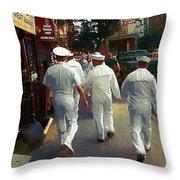 Following The Fleet Throw Pillow
