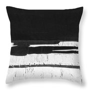 Following The Young Shadow  Throw Pillow