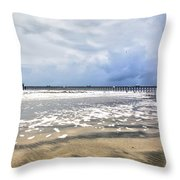 Folly Beach Throw Pillow