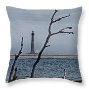 Folly Beach Throw Pillow by Skip Willits