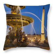 Fontaine Des Mers Throw Pillow