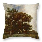 Fontainebleau Oak Throw Pillow