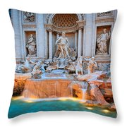 Fontana Di Trevi Throw Pillow