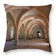 Fontenay Abbey Cross Vault Throw Pillow