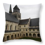 Fontevraud Abbey Courtyard -  France Throw Pillow