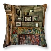 Fonthill Castle Bedroom Fireplace Throw Pillow