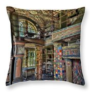 Fonthill Castle Library Room Throw Pillow