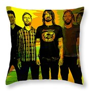Foo Fighters Throw Pillow