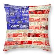 Food Advertising Flag Throw Pillow