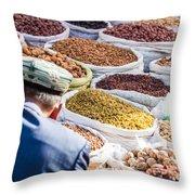 Food At Local Bazaar - Kashgar - China Throw Pillow