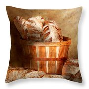 Food - Bread - Your Daily Bread Throw Pillow by Mike Savad