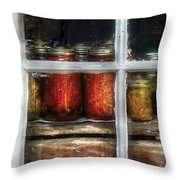 Food - Country Preserves  Throw Pillow by Mike Savad