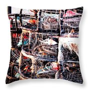 Food From The Sea Throw Pillow