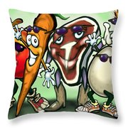 Food Groups Party Throw Pillow