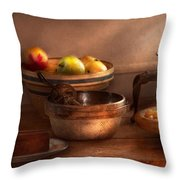 Food - Pie - Mama's Peach Pie Throw Pillow