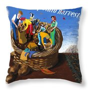 Food Production Lend A Hand With The Potato Harvest Throw Pillow