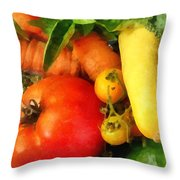 Food - Vegetable Medley Throw Pillow
