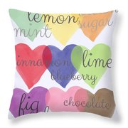 Foodie Love Throw Pillow