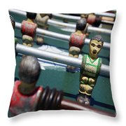Foosball Throw Pillow