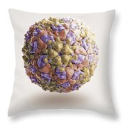 Foot-and-mouth Disease Virus Throw Pillow