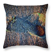 Foot In The Sand Throw Pillow