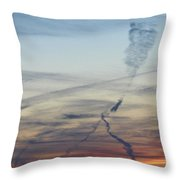 Foot In The Sky Throw Pillow