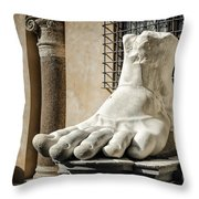 Foot Of Constantine Throw Pillow