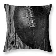 Football And Baseball Throw Pillow