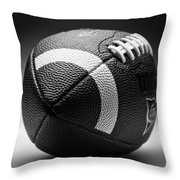 Football Black And White Throw Pillow