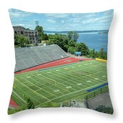 Football Field By The Bay Throw Pillow