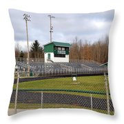 Football Field In Clare Michigan Throw Pillow