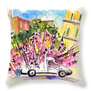 Football Flags From Palermo Throw Pillow