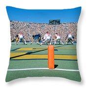 Football Game, University Of Michigan Throw Pillow